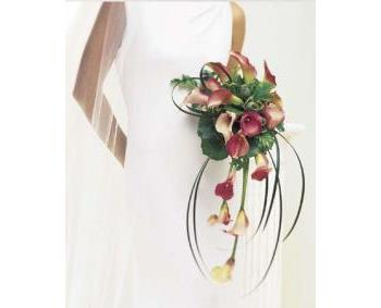 Calla Fountain Bridal Bouquet