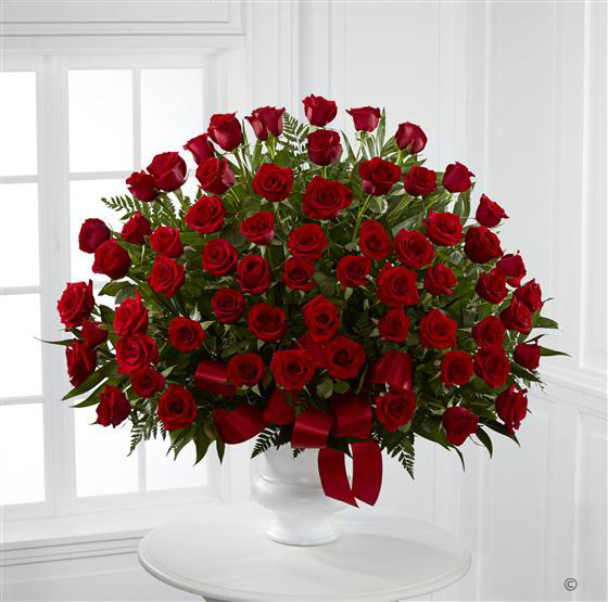 Extra Large Red Rose Service Arrangement