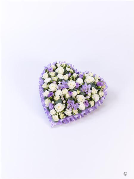 Pastel Heart - Lilac and White