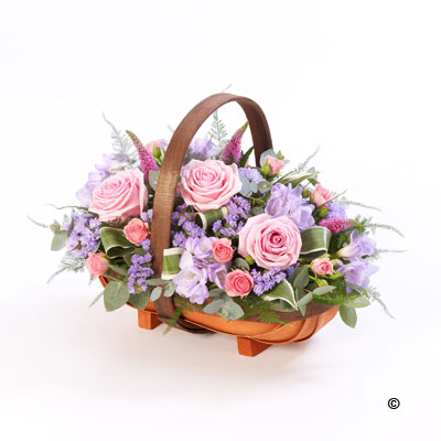 Mixed Basket - Pink and Lilac Basket