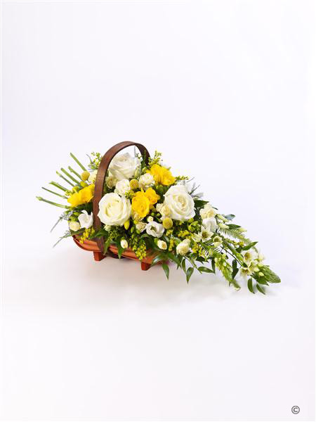 Large Rose and Freesia Basket