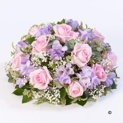 Large Rose and Freesia Posy - Pink and Lilac