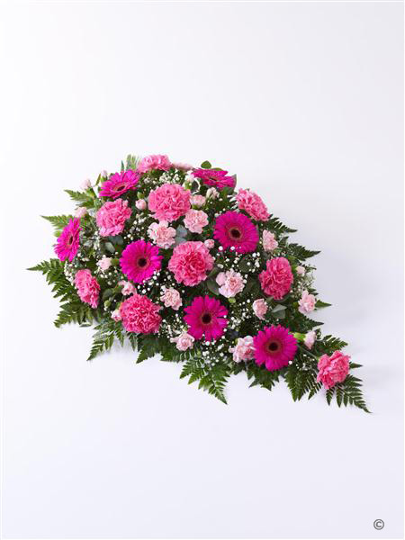 Extra Large Carnation and Germini Teardrop Spray Pink
