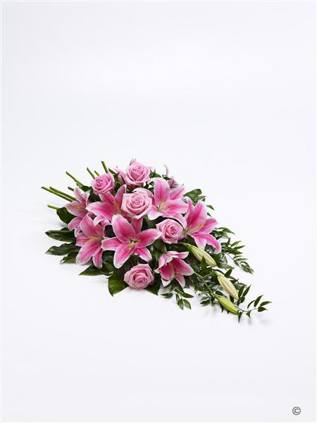 Extra Large Rose and Lily Spray - Pink
