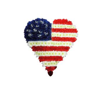 HC 04 USA Flag Heart