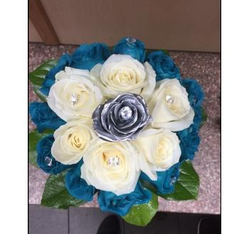 Men's wedding Posy Blue