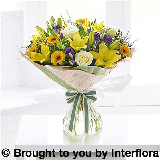 Large Spring Sunshine Hand-tied with Belgian Chocolates